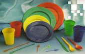 ♥Platos y vasos de colores ♥