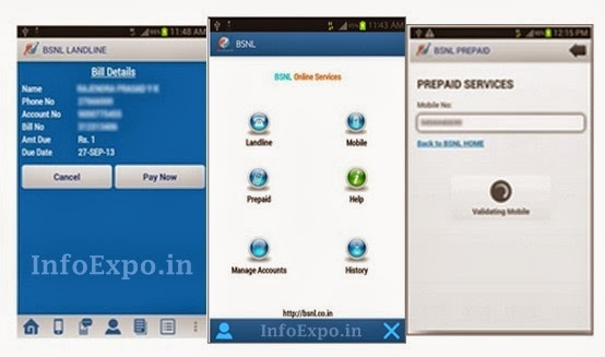 BSNL Official Android and Windows App for Paying Bills and MobileRecharges