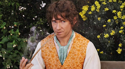 Hobbit Freeman Unexpected Journey pipe Shire Bilbo Baggins