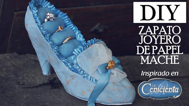Zapato joyero victoriano de cartapesta papel mache