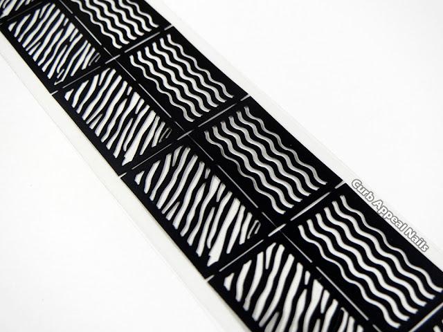 Hits Mari Moon So Unique with BPS Zebra Striped Nail Vinyls