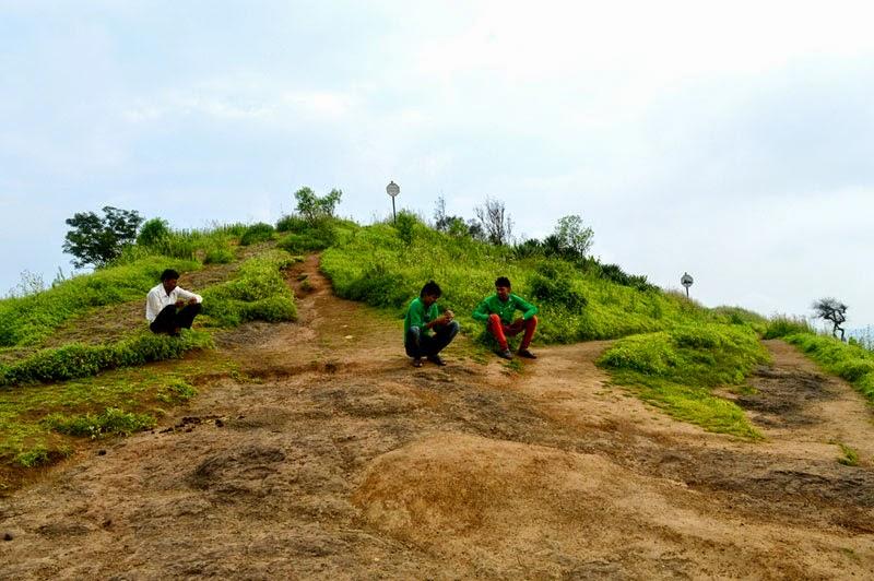 boys on mountain