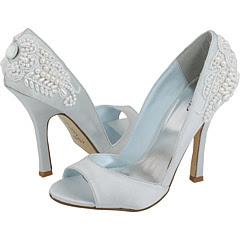 elegant bridal style light blue wedding shoes