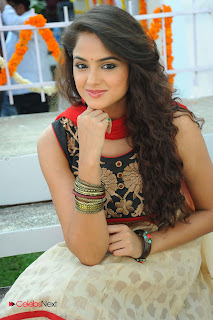 Asmita Sood Latest Pictures in Salwar Kameez at at Aa Aiduguru Movie Opening 0010