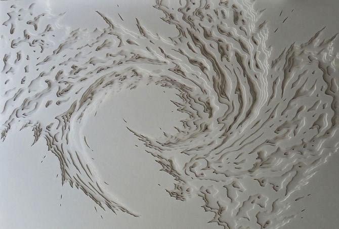 Cool Paper sculptures by Rogan Brown