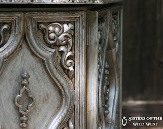 Aged silver finish - transform an ugly piece of furniture into a beauty!