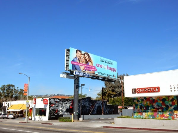 One Big Happy series premiere billboard