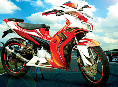 Jupiter MX Modif Warna merah putih