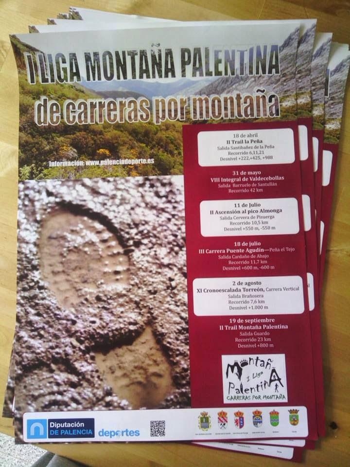 Cartel de la I Liga Montaña Palentina de Carreras por Montaña. /TRAILCYL
