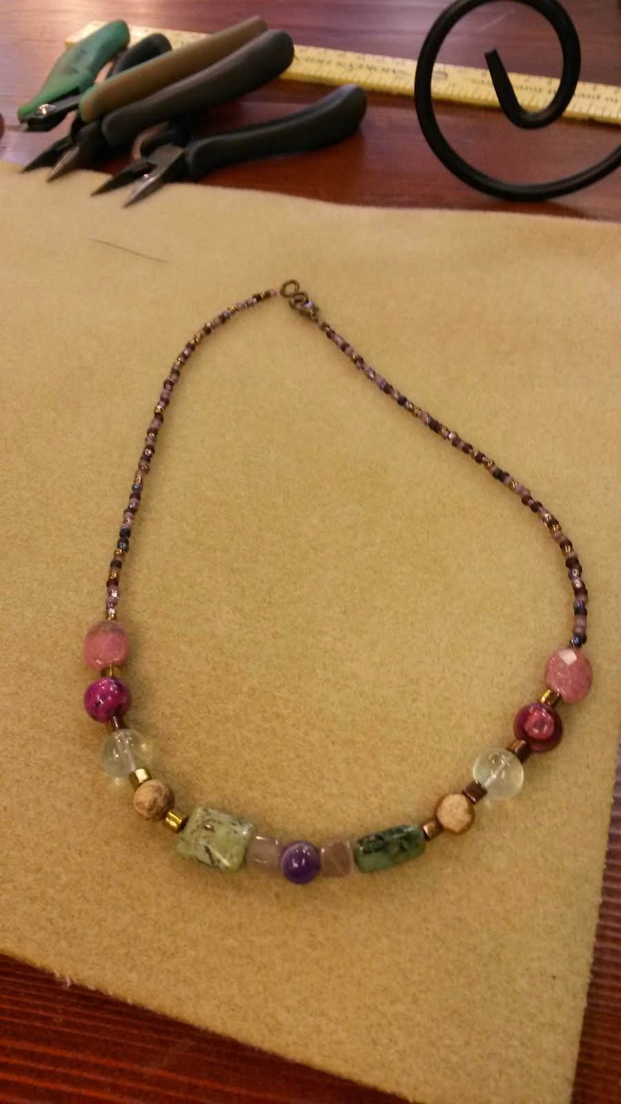 Made My Own Necklace in Galena (2-21-15)