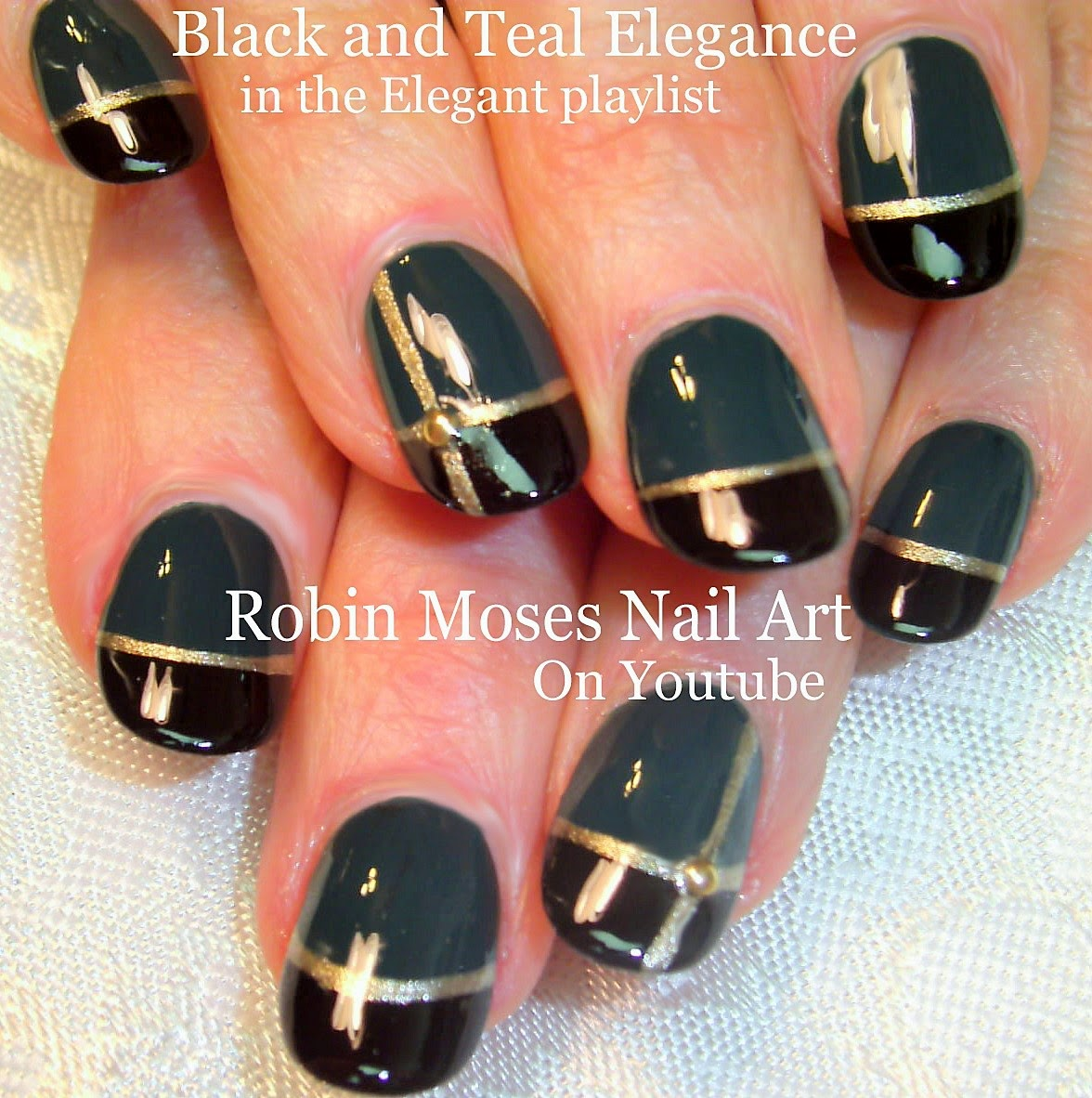 Robin moses nail art nail art elegant nail art teal nails nail art elegant nail art teal nails nails striped nails easynailart easy nail art easy nails beautiful nails teal and black nails prinsesfo Choice Image