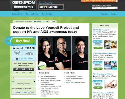 Groupon Philippines Support HIV Awareness