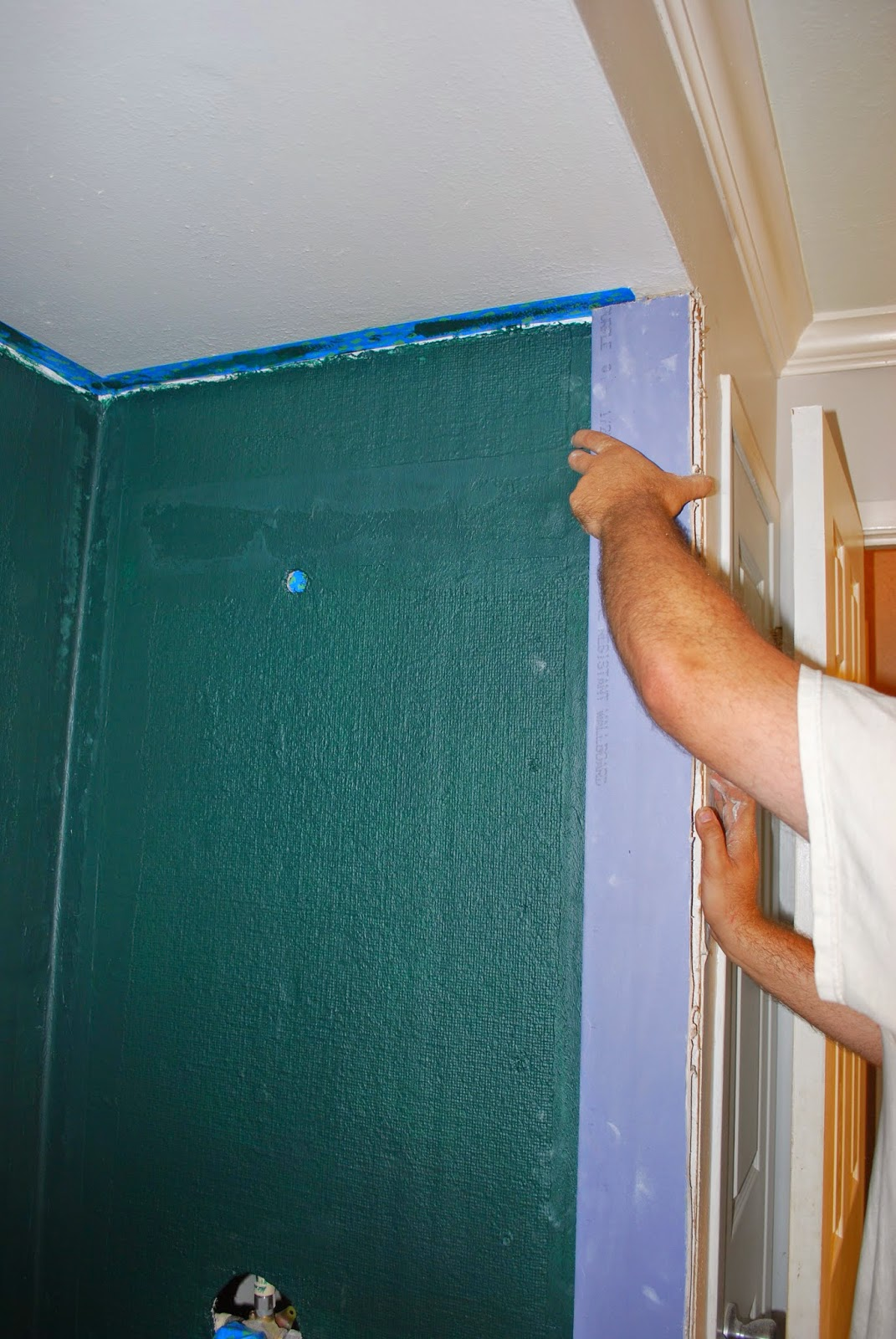 how to install waterproof sheetrock by shower