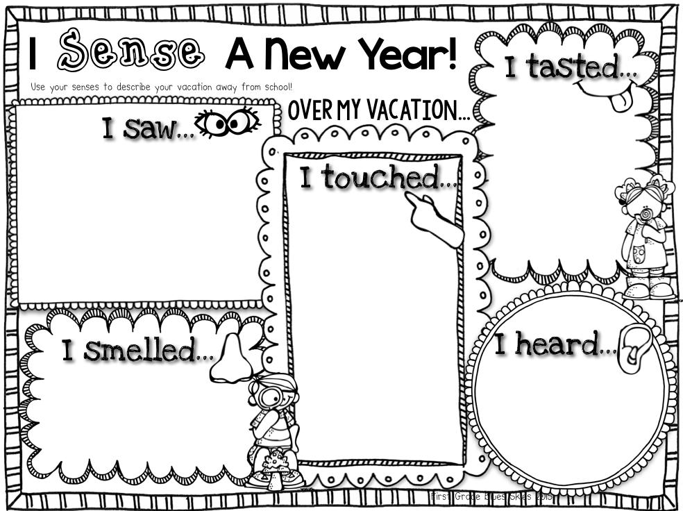 First Grade Blue Skies: Polar Bear Close Read & New Year {FREEBIE}