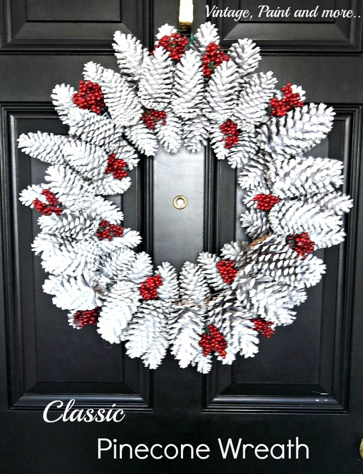Vintage, Paint and more... Classic Pine Cone Wreath diy