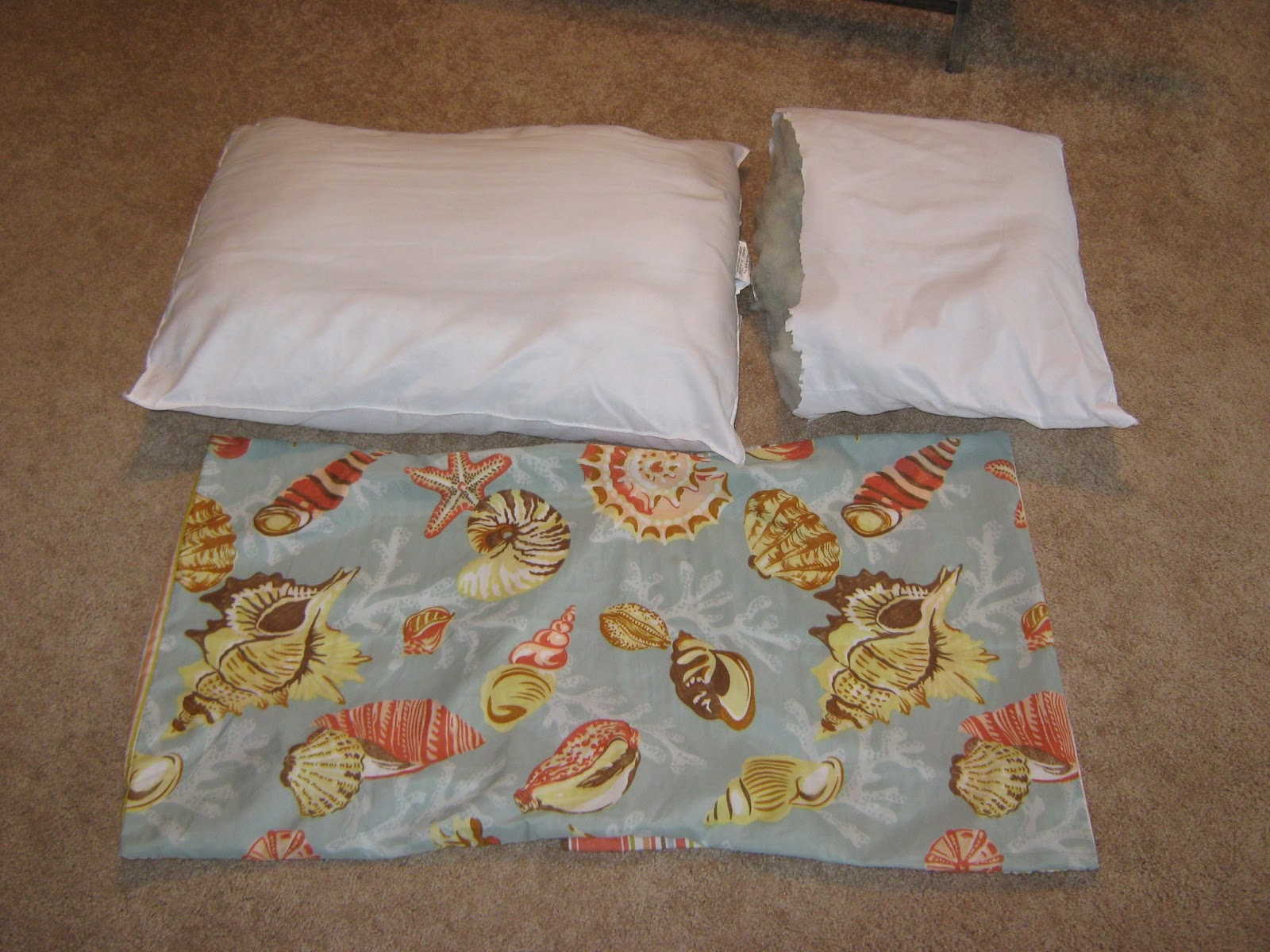 fake it frugal fake king size pillow stuffers. Black Bedroom Furniture Sets. Home Design Ideas