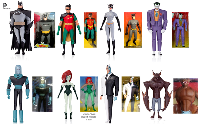 Batman Animated Series DC Collectibles Figures with Kenner Comparison