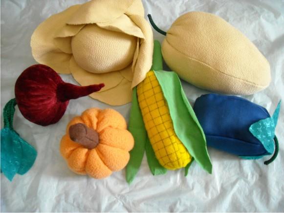 Как сшить овощи и фрукты из ткани