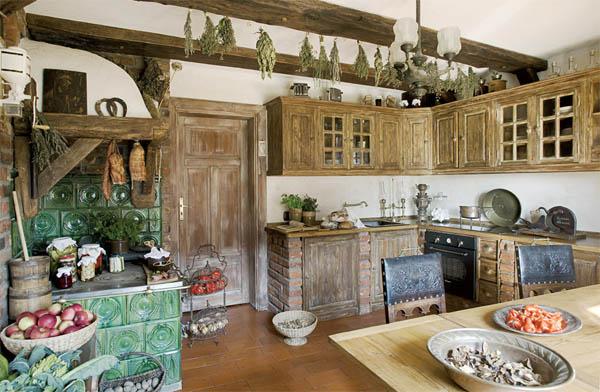 cocina rustica de madera
