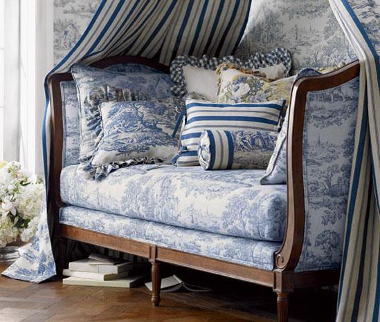 French Blue Toile Daybed