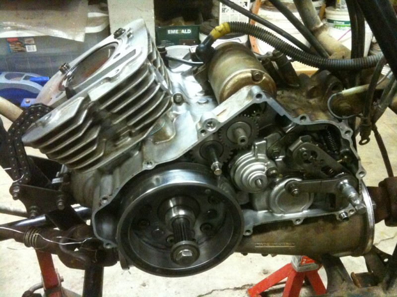 Yamaha Big Bear Rebuild: New Top End Gaskets