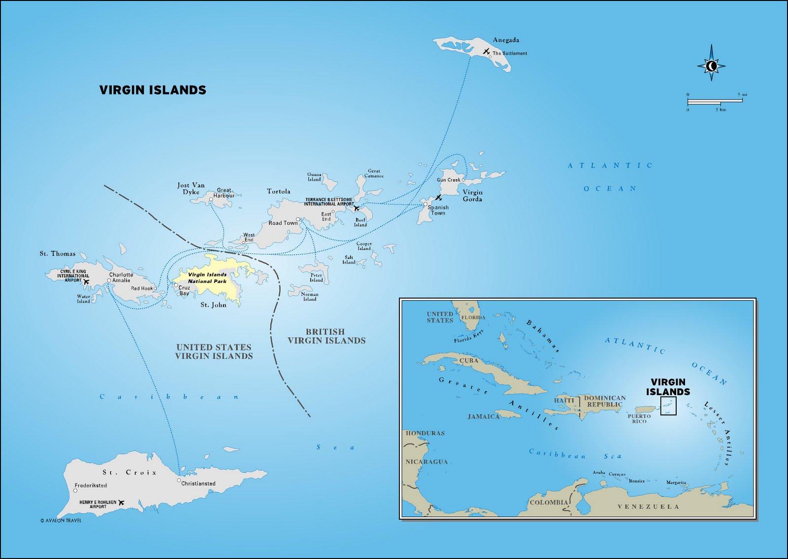 Us Island Map Images U S Islands Maps Perry Casta Eda - British and us virgin islands map