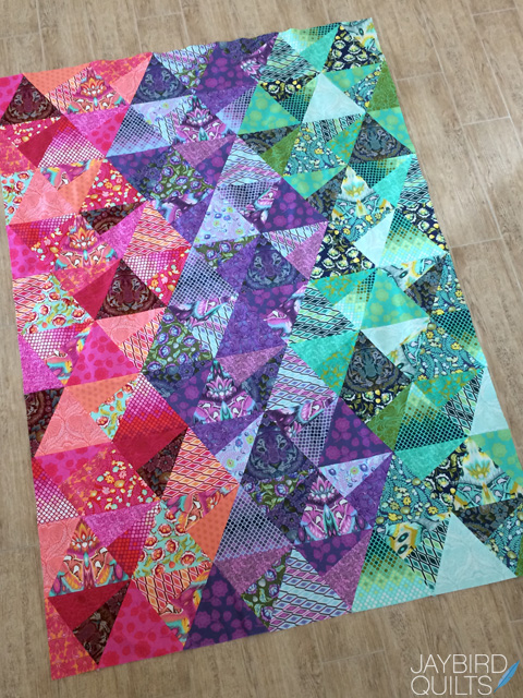 Tula Pink Eden Stereo Quilt + a Fat Quarter Giveaway | Jaybird Quilts : quilts from fat quarters - Adamdwight.com