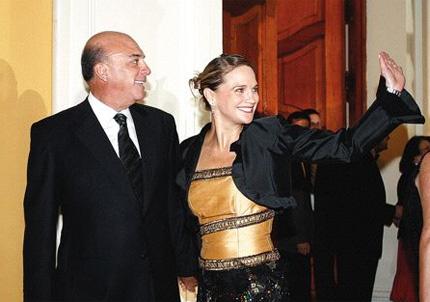 Luciana León y su padre Rómulo León