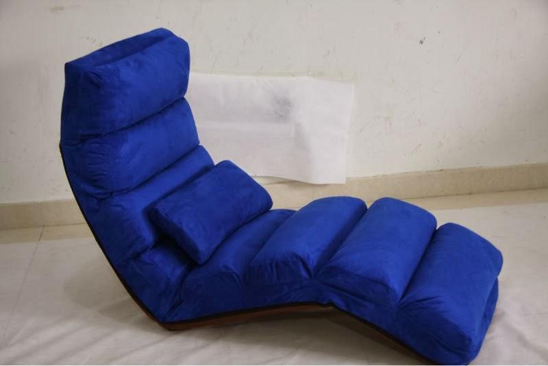 fauteuil bleu en lit
