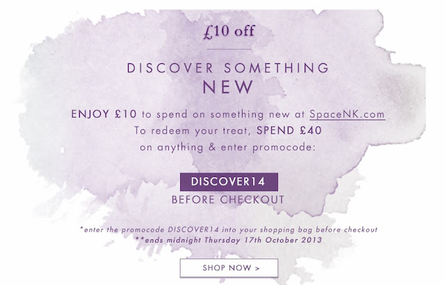 £10 off at Space NK - high end beauty