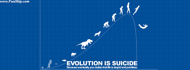 Evolution is Suicide facebook cover
