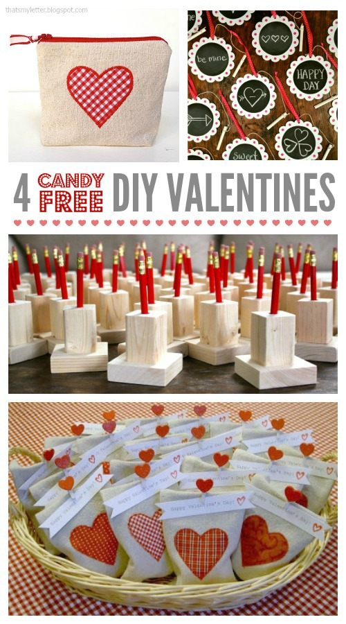 4 DIY candy free valentines