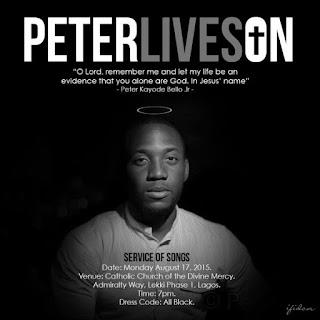 Memorial Service To Be Held In Honour Of Peter Bello Today