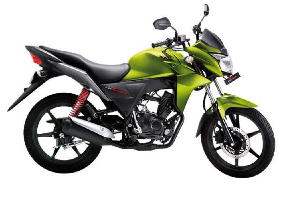 honda cb twister bike green color honda cb twister blue