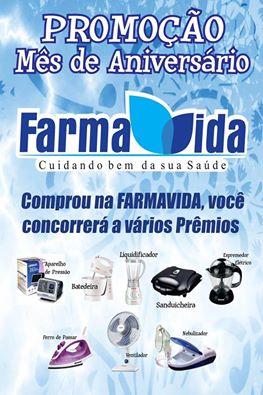 PROMOÇÃO MÊS DE ANIVERSÁRIO FARMA VIDA EM UMARIZAL: Venham comemorar com a gente nesta sexta (14)