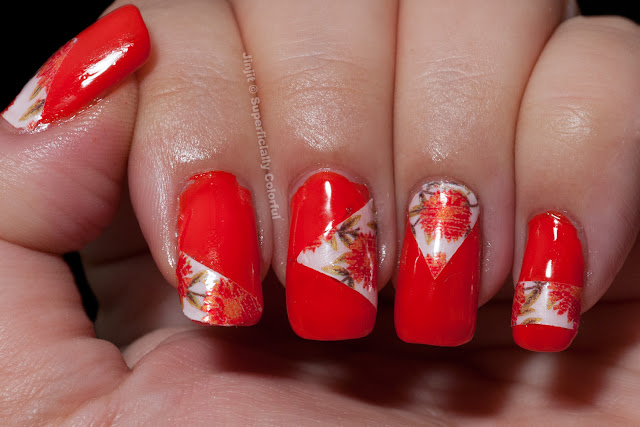 Incoco Nail Applique over Cult Nails Ay Poppy