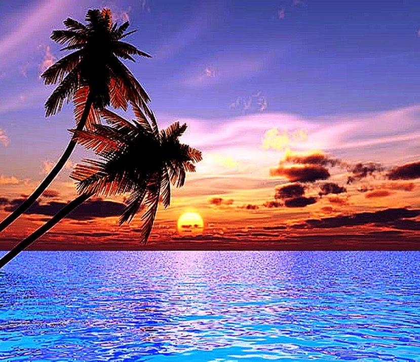 Beautiful Ocean Sunset Desktop Wallpapers Hd | Background ...