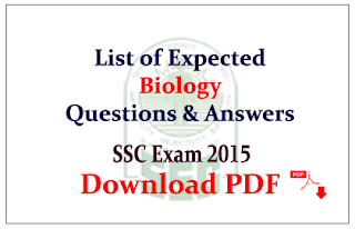 List of Expexted Biology Questions and Answers Capsule Download in PDF