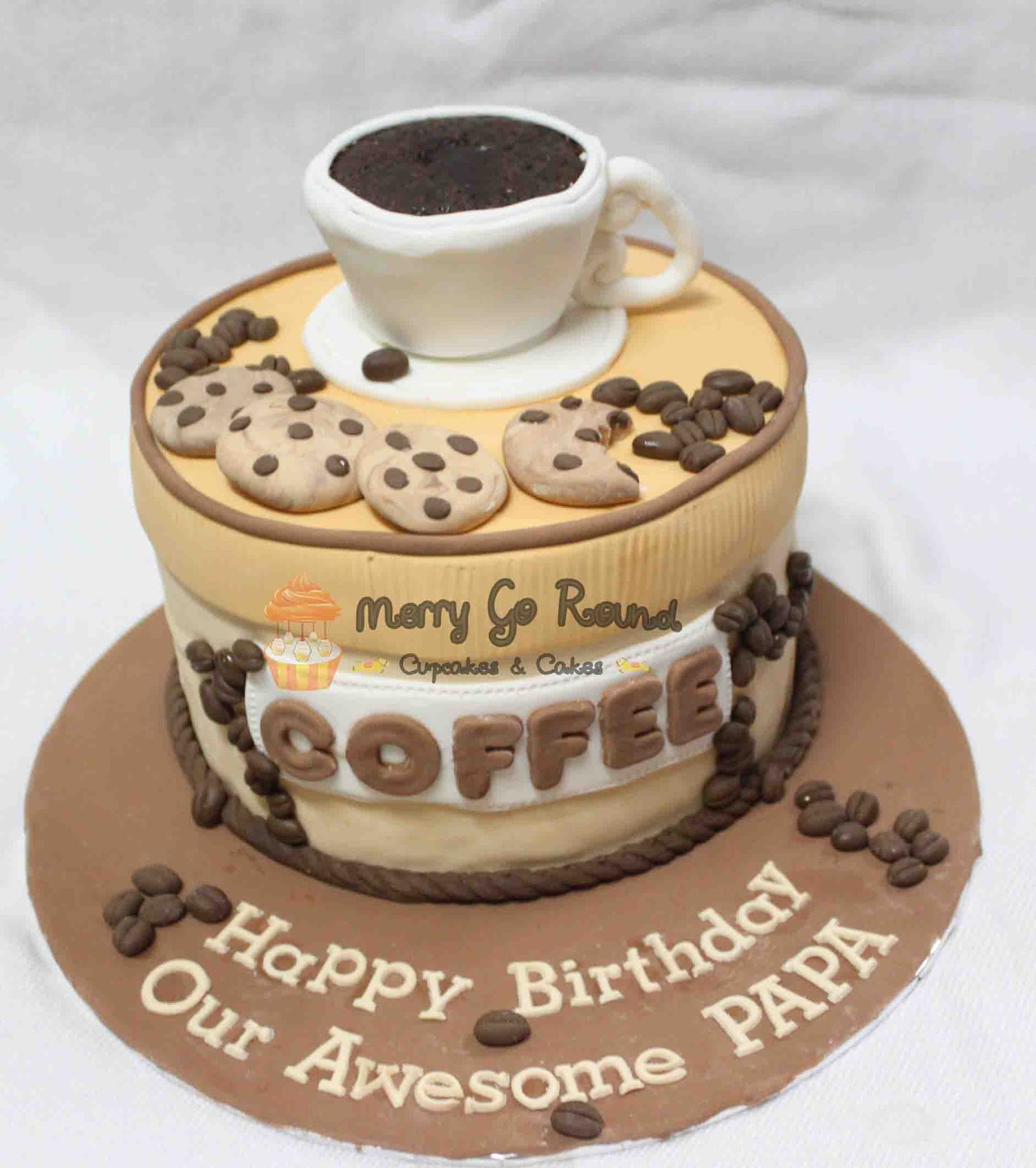 Merry Go Round Cupcakes Cakes Coffee Lovers Birthday Cake