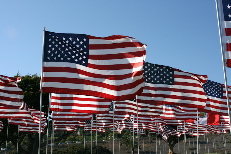 Pepperdine 9/11 heroes flags
