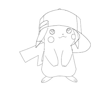 #3 Pikachu Coloring Page