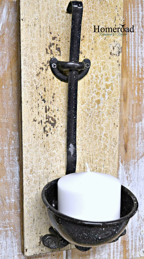 Homeroad enamelware ladle candle holder for What kind of paint to use on kitchen cabinets for aluminum candle holders