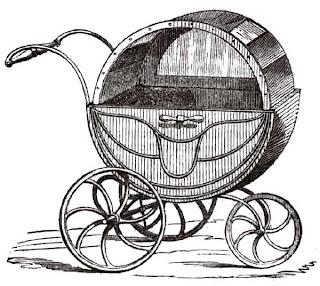 Patent. Perambulator. 1859 год