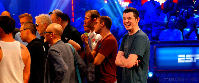 One of my favorite pictures I have ever taken, Tom Dwan cracking up just before the start of the One Drop.