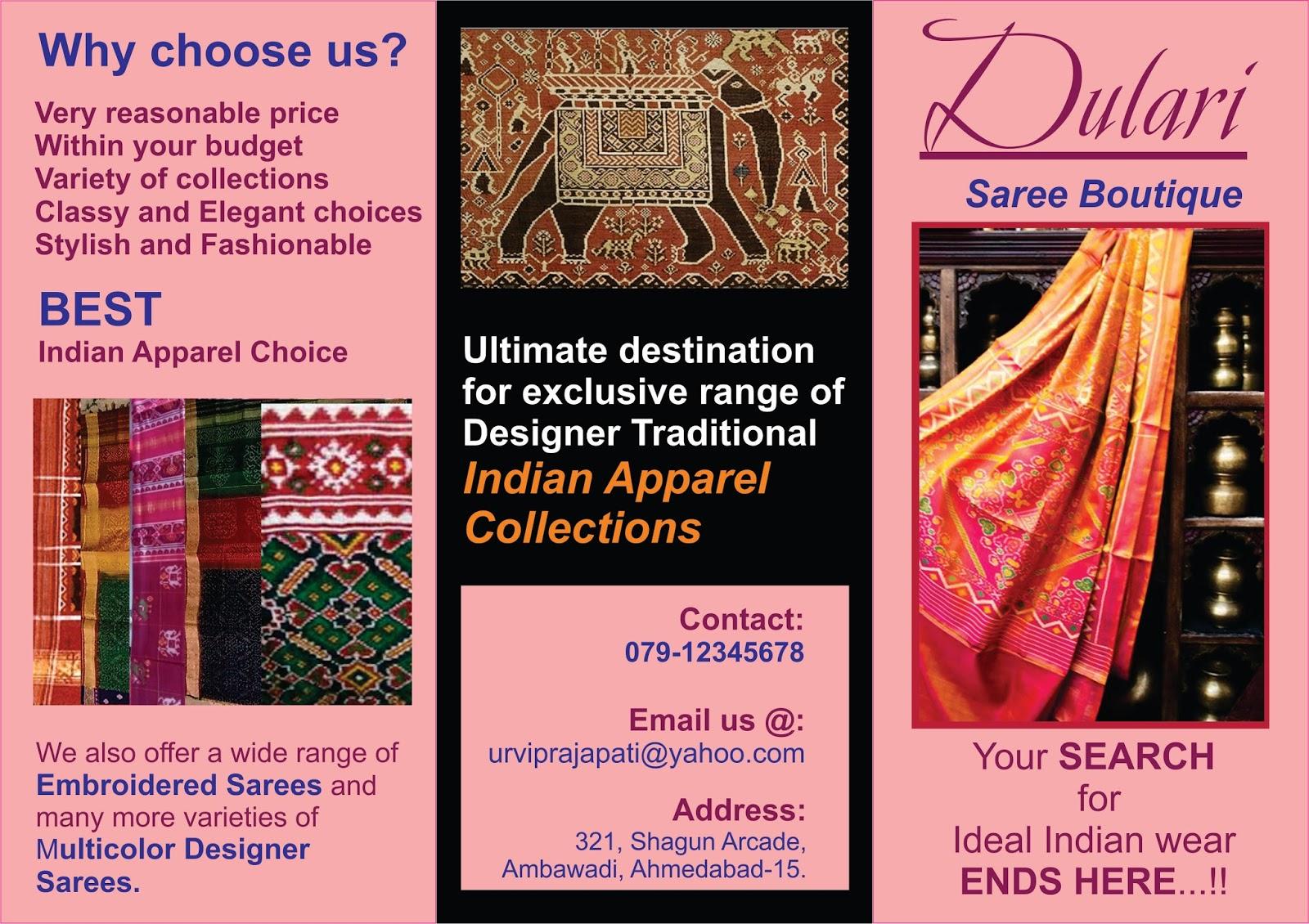 Varsha Bharadwa Saree Boutique Stationery Made Using