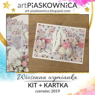 Art Piaskownica - Wiosenna wymiana - KIT + kartka
