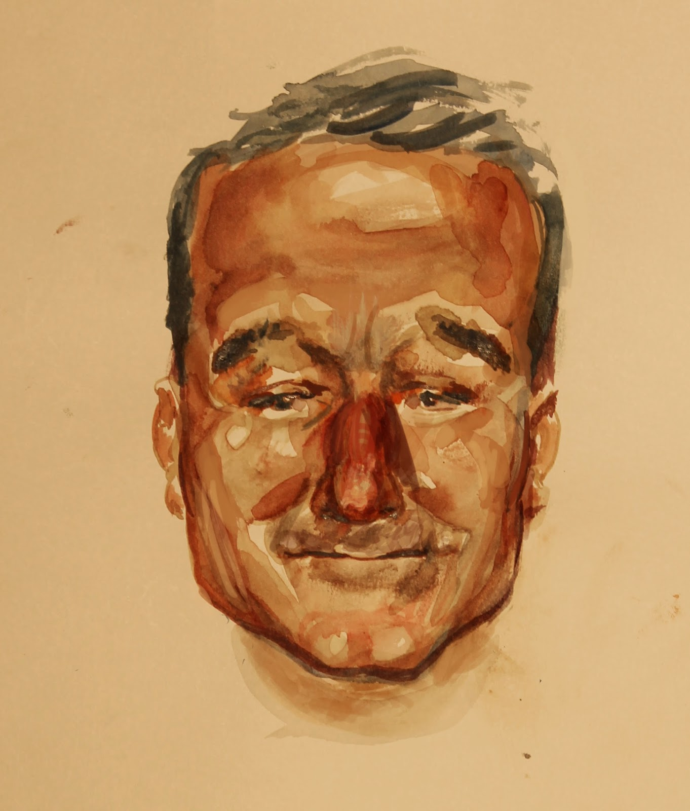 Robin Williams Tribute portrait watercolor