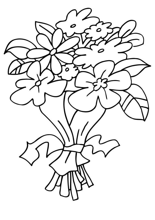 Dibujos para Colorear y Manualidades: Dibujos de Flores para colorear