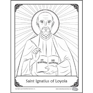 Saint Francis of Loyola Coloring page