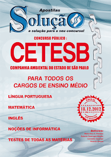 Apostila CETESB &#8211; Cargos Nvel Mdio &#8211; Concurso 2013